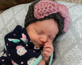 Baby Girl Hat with Bow
