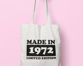 Made In 1972 Limited Edition Tote Bag Long Handles TB1735
