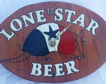 wood clock - lone star