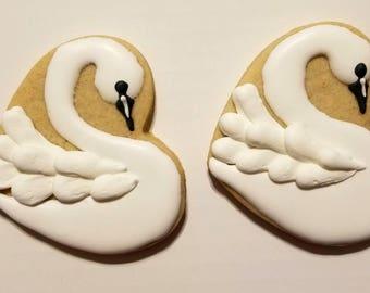 Swan cookies (12)