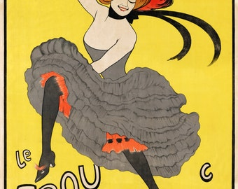 Le Frou Frou Advertising Poster by Leonetto Cappiello Home Decor Wall Decor Giclee Art Print Poster A4 A3 A2 Large Print FLAT RATE SHIPPING