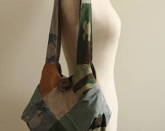 Mini Sonny: Bag in camouflage patchwork.