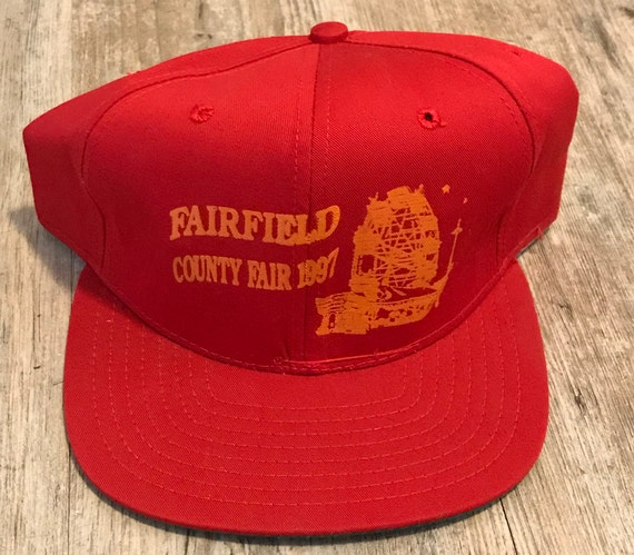 c27151c817e Fairfield County Fair Vintage 1997 New Era Red Snapback Hat