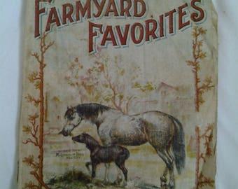 Late 1800's-early 1900's Farmyard Favorites Linen, McLoughlin Bros. New York.