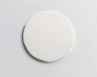 1.25 inch 18 Gauge Sterling Silver Round Circle Discs Jewelry Stamping Supplies