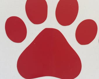 Paw Print Vinyl Decal, Car Window Decal, Laptop Decal, Window Art, Car Decal, Dog, Pet