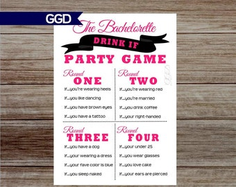 bachelorette party game bachelorette game drink if game