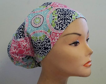 New Veronica Close Fit  Medical Surgical Scrub Hat Vet Nurse Chemo CRNA Surgical Women Caps