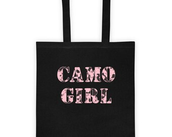 CAMO GIRL Bag in PINK Camouflage Tote bag