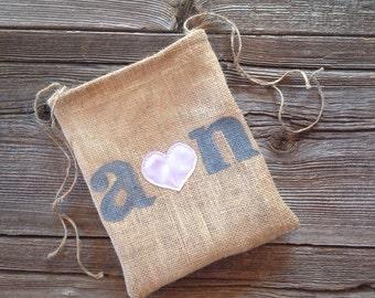 Dollar Dance Bag, Personalized Wedding Bag, Tote Bag, Pink Wedding, Drawstring Bag, Burlap Wedding, Brides Bag, Bridal Shower Gift, Blush