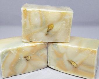 Citron Cold Process Goat milk soap