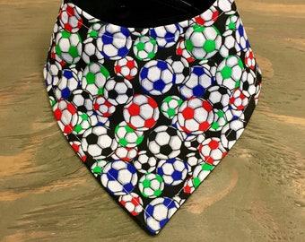 Customizable Cool 2 Drool Bib, Baby Bandana Bib, Stylish Fashion Bibdana, Sports, Soccer Bib, Soccer Balls, Soccer Baby