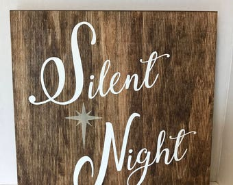Silent night Sign