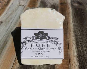Organic Garlic Clove & Shea Butter Soap Bar- 100% Handmade