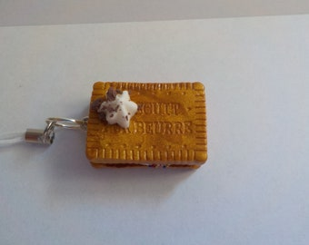 /Strap biscuit cookie keychain
