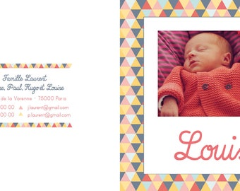 Geometric collection, birth announcements