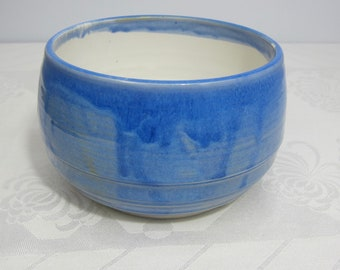 Brilliant Blue and White Serving Bowl - Handmade Pottery - Ceramics and Pottery - Wheel-thrown Porcelain - Grain Bowl