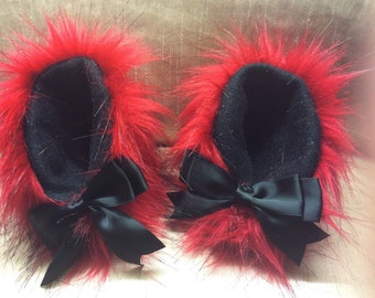 """5"""" flame red kitten play ears"""