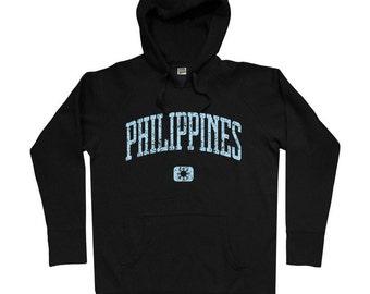 Philippines Hoodie - Men S M L XL 2x 3x - Filipino Hoody Sweatshirt - Pilipinas - 4 Colors