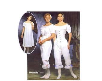 SALE Simplicity 9769 Misses Chemise Drawers Corset Authentic Civil War Undergarments Sewing Pattern UNCUT Different Sizes Available