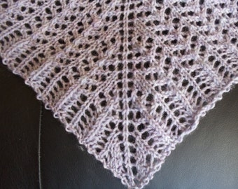 Handknit wool lace shawl