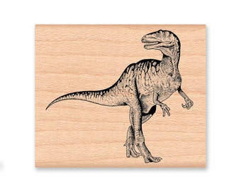 T-REX DINOSAUR-Tyrannosaurus-large or small wood block mounted rubber stamp-(39-07)(32-12)