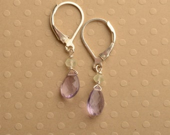 Pink Amethyst Earrings, Amethyst Gemstone Earrings, Light Purple Earrings, February Birthstone Earrings, Healing Gemstone Jewelry