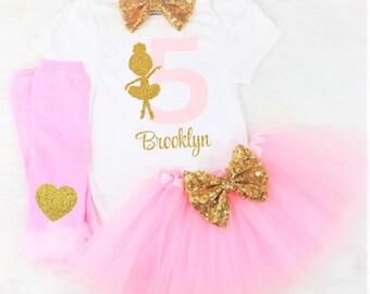 girls fifth birthday outfit girls 5th birthday outfit ballet 5th birthday outfit girls 5th birthday shirt girls ballerina 5th birthday