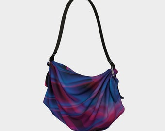 Gift Idea, Gifts for Her, Handmade, Vegan Friendly, Origami Bag-Bold and Bright Lines Hand Designed Bag