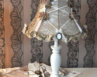 Shabby Victorian style lamp