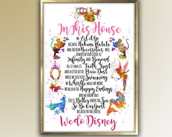 In this House Be our Guest  art, gift for her, Home Decor, Room Decor,  Wall Art