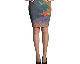 Paul Gauguin, Fatata te Miti (By the Sea) - Pencil Skirt