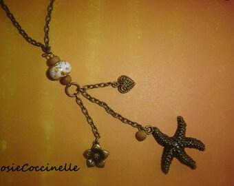 Necklace arty Souvenir of the sea