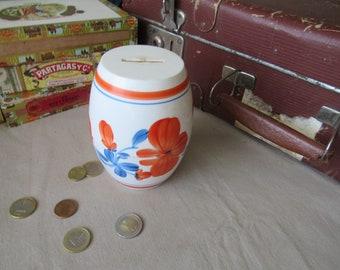 Piggy bank barrel shaped vintage money bank Soviet time piggy Coin Bank Money Box Coin case Saving bank Penny Bank savings Box Collection