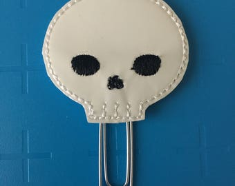 Glow In The Dark Skeleton Head Planner Clip