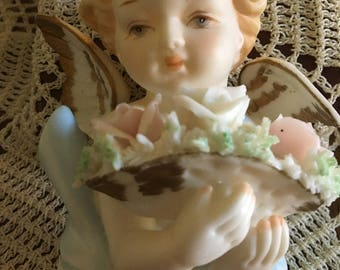 Lefton porcelain angel (maybe)