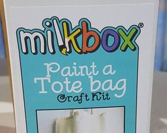 Paint a tote bag - kids craft activity for boys and girls - with bonus pencil case!
