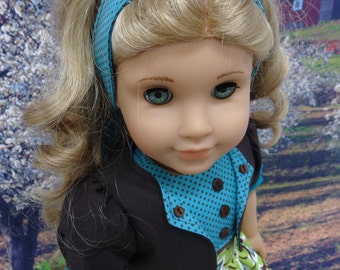 Song of the Meadow - Dress and Jacket for American Girl doll