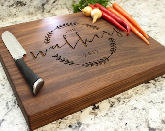 Personalized Chopping Block 12x15x1.75 - Cutting Board, Wedding Gift, Housewarming Gift, Anniversary Gift, Engagement W-022 GB