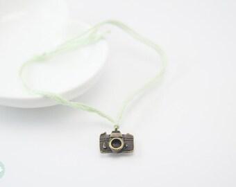 Camera bracelet, camera, wish bracelet, cord bracelet, cute bracelet, friendship bracelet,gift for her, mother and daughter , charm bracelet