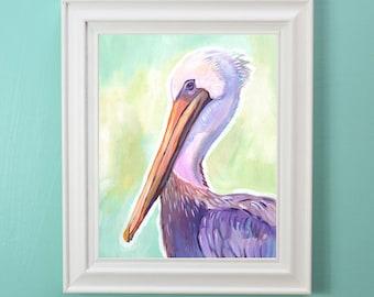 Mr. Pelican - Makewells Art Print