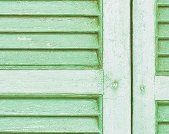Digital Print, Instant Download, Wall Art, Green Shutter, Rustic Wooden Shutter, Greece Photography, Minimal, Home Decor