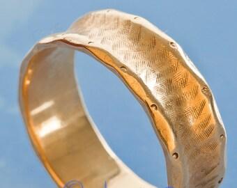 Gold Ring man's 14k  wedding band  vintage