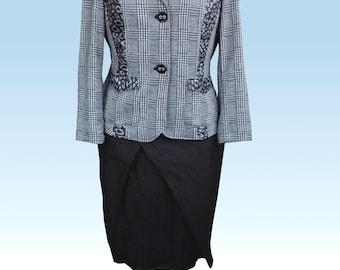 Blouse jacket, Blazer Brüssel with Leoprint.  UK 14, US 12
