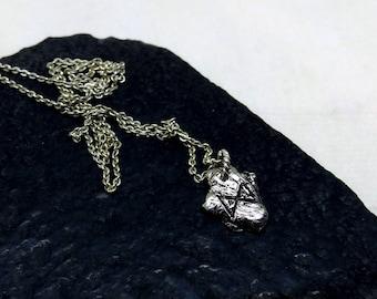 Rune necklace, silver rune pendant, Silver rune dagaz pendant,  Empowerment rune necklace, Viking Necklace, Norse Pendant, Evil eye necklace