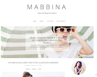 Premade Blogger Template Responsive Blogger Template Blogger Templates Blog Template Blogger Theme - MABBINA - Instant Download