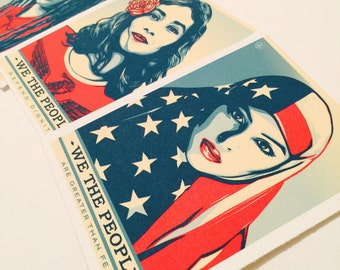 We the people art poster print  • (3pc)  Historic collection •