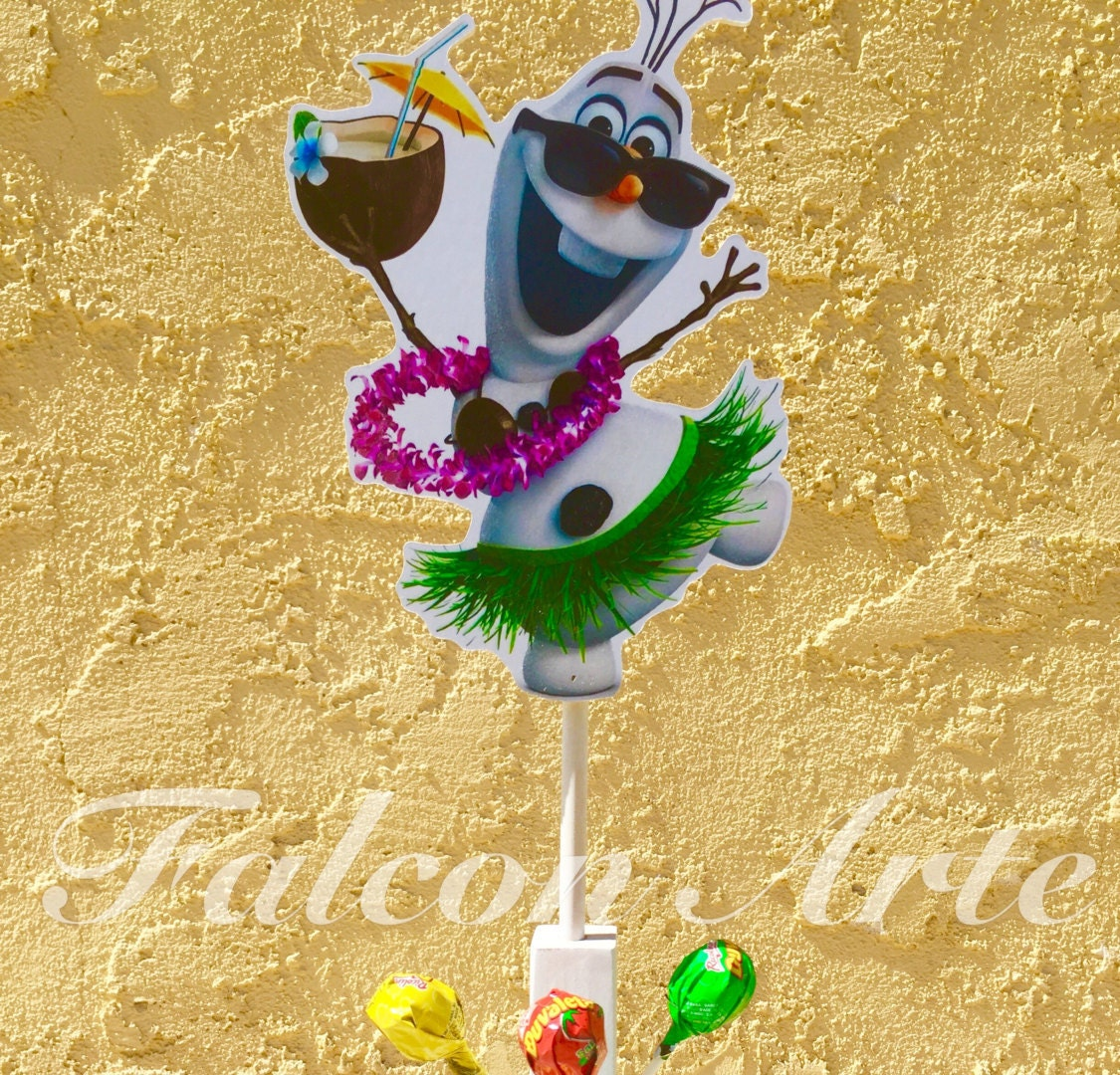 Disney Frozen Birthday Olaf in the Summer Lollipop or Cotton