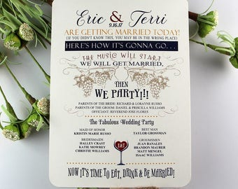 Wedding Program Fans, Wedding Programs, Ceremony Fans, Programs, Fans