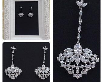 Bridal Earrings, Wedding Earrings, Crystal Earrigs, Bridal Jewelry, Vintage Earrings, Victorian Earrings